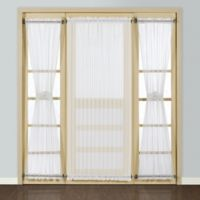 Madura Batiste 45-Inch Rod Pocket Door Window Curtain Panel in White