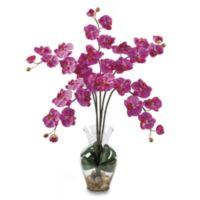 Nearly Natural 27-Inch Phalaenopsis Liquid Illusion Silk Flower Arrangement in Dark Pink