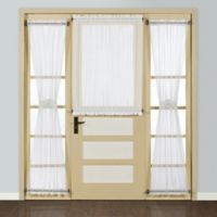 Madura Batiste 72-Inch Rod Pocket Door Window Curtain Panel in White