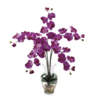 Nearly Natural 27-Inch Phalaenopsis Liquid Illusion Silk Flower Arrangement in Orchid