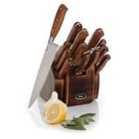 Oster® Cuisine Riverdale 14-Piece Knife Block Set in Brown