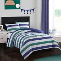 American Kids Jayden 3-Piece Full Comforter Set in Blue/Green
