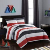 American Kids Jayden 2-Piece Twin Comforter Set in Red/Black