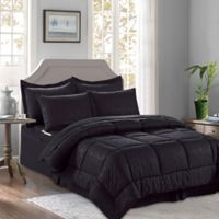Bamboo 6-Piece Twin/Twin XL Comforter Set in Black