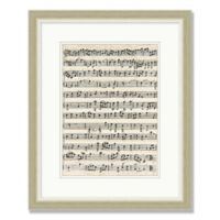 Sheet Music 2 18-Inch x 22-Inch Framed Wall Art