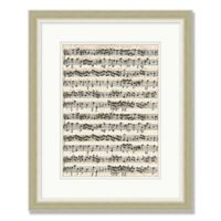 Sheet Music 1 18-Inch x 22-Inch Framed Wall Art