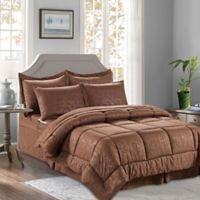 Bamboo 6-Piece Twin/Twin XL Comforter Set in Chcoclate Brown