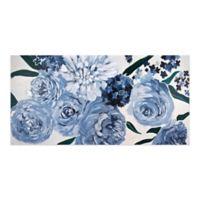 Blue Floral Canvas Wall Art