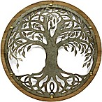 Round Tree 26-Inch Metal Wall Art