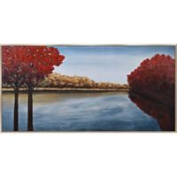 Red Tree River 30-Inch x 60-Inch Framed Wall Art