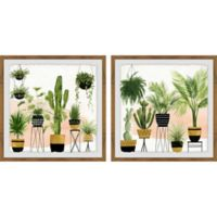 Marmont Hill Indoor Oasis 24-Inch x 12-Inch Framed Diptych Wall Art