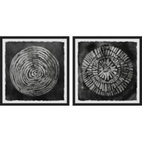 Marmont Hill Spiral Smudge 38-Inch x 18-Inch Framed Diptych Wall Art