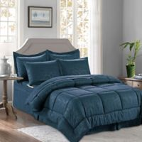 Bamboo 6-Piece Twin/Twin XL Comforter Set in Navy/Blue