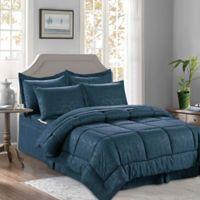 Bamboo 8-Piece King/California King Comforter Set in Navy/Blue