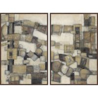 Marmont Hill Tower Blocks 48-Inch x 36-Inch Framed Diptych Wall Art