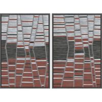 Marmont Hill Trio Stripes 48-Inch x 36-Inch Diptych Framed Wall Art (Set of 2)