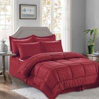 Bamboo 8-Piece King/California King Comforter Set in Burgundy