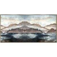 Blush Mountains 60-Inch x 30-Inch Framed Wall Art
