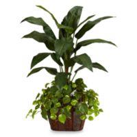 Nearly Natural 4-Foot Bird of Paradise w/ Vase & Pothos Silk Plant