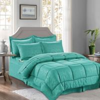 Bamboo 6-Piece Twin/Twin XL Comforter Set in Turquoise