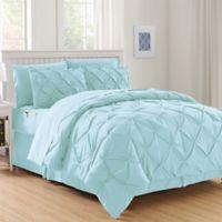 Hi-Loft Luxury Pintuck 6-Piece Twin/Twin XL Comforter Set in Aqua