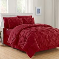 Hi-Loft Luxury Pintuck 6-Piece Twin/Twin XL Comforter Set in Burgundy