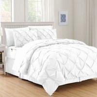 Hi-Loft Luxury Pintuck 8-Piece King/California King Comforter Set in White