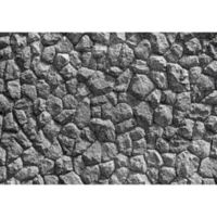 "FoFlor Rubble 46"" x 66"" Area Mat in Grey"