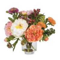 Nearly Natural 13.5-Inch Peony Silk Flower Arrangement