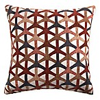 Turbine Square Throw Pillow in Red