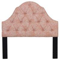 Pulaski Camelback Tufted Upholstered King Headboard in Swoon Melon
