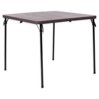 Flash Furniture Bi Fold Square Plastic Folding Table In Brown