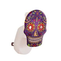 Scentsationals Scent Charms Sugar Skull Lighted Fragrance Oil Diffuser in Blue/White