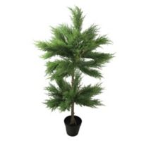44-Inch Artificial Cypress Topiary Tree with Pot