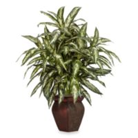 Nearly Natural 30-Inch Aglaonema w/ Decorative Vase Silk Plant