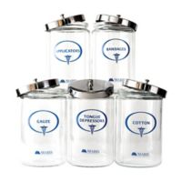 Mabis Glass Apothecary Sundry Jars (Set of 5)