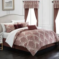 Chic Home Slade 20-Piece King Comforter Set in Brick