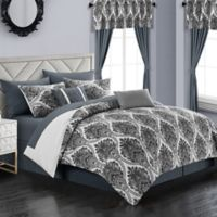 Chic Home Slade 20-Piece King Comforter Set in Grey