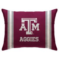 Texas A& M University Rectangular Microplush Standard Bed Pillow