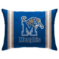 University of Memphis Rectangular Microplush Standard Bed Pillow