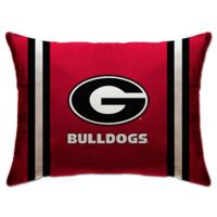 University of Georgia Rectangular Microplush Standard Bed Pillow