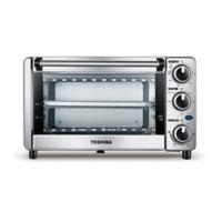 Toshiba® Stainless Steel 4-Slice Toaster Oven