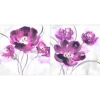 Floral 12-Inch Square Canvas Wall Art (Set of 2)