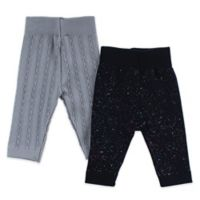 Capelli New York Size 12-24M 2-Pack Splatter Leggings in Grey