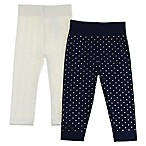 Capelli New York Size 0-6M 2-Pack Mixed Hearts Leggings in Navy