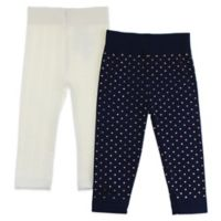 Capelli New York Size 12-24M 2-Pack Mixed Hearts Leggings in Navy