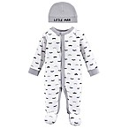 Luvable Friends® Preemie Mustache Sleep N' Play with Cap in Grey