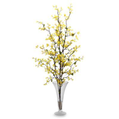 Buy tall silk flower arrangements from bed bath beyond nearly natural forsythia with vase silk flower arrangement mightylinksfo