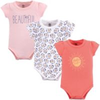 Yoga Sprout Hello Sunshine Size 12-18M 3-Pack Short Sleeve Bodysuits in Pink