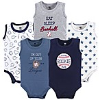 Hudson Baby® 9-12M 5-Pack Baseball Sleevless Bodysuits